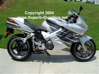 Silver Honda w/ Wing Graphics