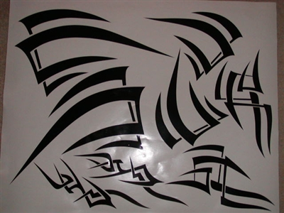 Tribal Motorcycle Decal