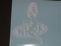 Girl Rides NHRA Logo Decal