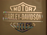 Harley Davidson 8X10 window Decal