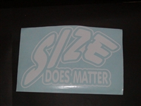Size does Matter Tailgate Decal