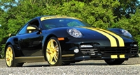"Black Porsche w/ Yellow 5"" Rally Stripe Set"