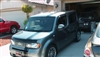 Silver Nissan Cube w/ Offset Rally Stripes