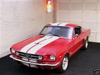"Red Mustang w/ 10"" Rally Stripes"