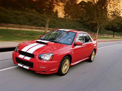"Red Car w/ 8"" Rally Stripes"