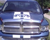 Blue Ram w/ White Ram Head Rally Stripe Set