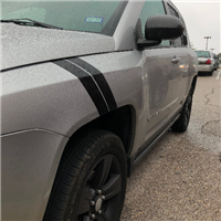 Jeep Compass Hash Mark Fender stripes Fit All Models Including the Tailhawk
