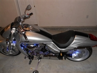 "Silver Cruiser w/ 6"" Stripe Kit"