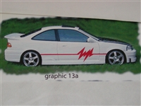 "Graphics set 13a size 12"" tall X 84"" long Decal"
