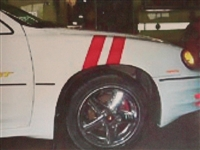 White Front Fender w/ Red Grand Sport Stripes
