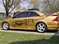 Gold Car w/ Black Scorpion Side Graphic