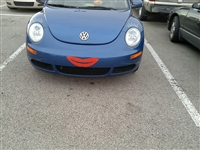 VW Beetle Bug Smile Face Decal