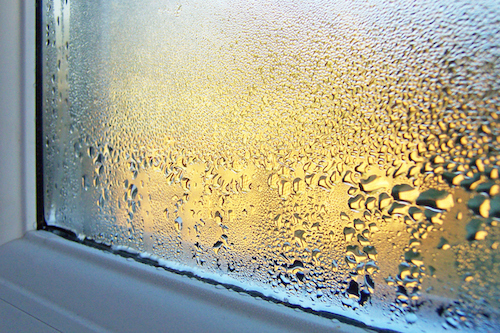 condensation and humidity from water