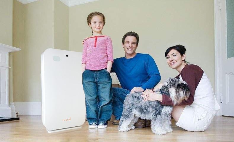 happy family with ov200 air purifier