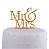 Gold Glitter Mr. & Mrs. Acrylic Cake Topper
