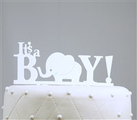 """It's A Boy"" Baby Acrylic Cake Topper"