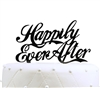 """Happily Ever After"" Acrylic Wedding Cake Topper - Black"