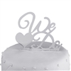 """We Do"" Acrylic Wedding Cake Topper - Silver Mirror"
