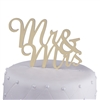 Mr & Mrs Acrylic Wedding Cake Topper Script - Gold Mirror