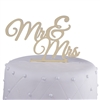 Mr & Mrs Acrylic Wedding Cake Topper New - Gold Mirror