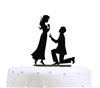 """Will You Marry Me"" Engagement Acrylic Cake Topper"