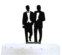 Mr & Mr Gay Acrylic Wedding Cake Topper