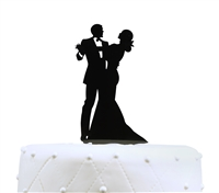 Dancing Couple Acrylic Wedding Cake Topper