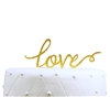 """Love"" Acrylic Wedding Cake Topper - Gold Glitter"