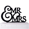 Mr. & Mrs. Wedding Acrylic Cake Topper