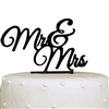 """Mr & Mrs"" Elegant Acrylic Cake Topper - Black"