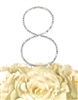 Simply Elegant Collection Rhinestone Monogram Cake Topper in Silver - Number 8