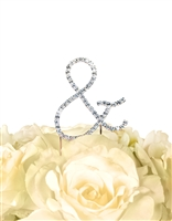 Simply Elegant Collection Rhinestone Monogram Cake Topper in Silver - AMPERSAND