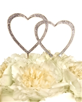 Sparkling Collection Double Heart - Large - Gold Cake Topper