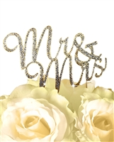 Sparkling Collection Mr & Mrs - Gold Cake Topper