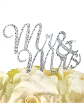 Sparkling Collection Mr & Mrs - Silver Cake Topper