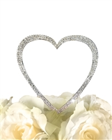 Sparkling Collection Single Heart - Medium - Silver Cake Topper