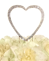 Sparkling Collection Single Heart - Large - Gold Cake Topper