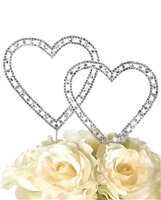Timeless Collection Double Heart - Large Cake Topper