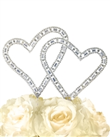 Timeless Collection Angled Double Heart Cake Topper