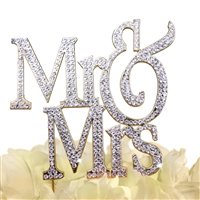 Sparkling Collection Mr & Mrs - Block - Gold Cake Topper
