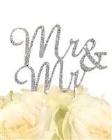 Sparkling Collection Mr & Mr Cake Topper