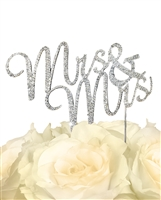 Sparkling Collection Mrs & Mrs Cake Topper