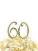 Sparkling Collection Rhinestone Cake Topper - 60 - Gold