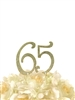 Sparkling Collection Rhinestone Cake Topper - 65 - Gold