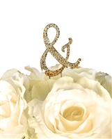 Sparkling Collection Rhinestone Monogram Cake Topper in Gold - Ampersand