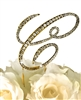 Victorian Collection Rhinestone Monogram Cake Topper in Gold - Letter C