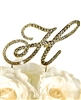 Victorian Collection Rhinestone Monogram Cake Topper in Gold - Letter H