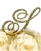 Victorian Collection Rhinestone Monogram Cake Topper in Gold - Letter S