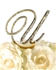 Victorian Collection Rhinestone Monogram Cake Topper in Gold - Letter U
