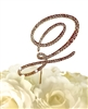 Victorian Collection Rhinestone Monogram Cake Topper in Gold - Letter Z